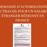 Demande d'autorisation de travail pour un salarié étranger